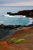 兰萨罗特岛,坎那利岛- El Golfo 免版税库存照片