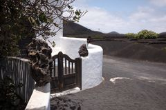 兰萨罗特岛,西班牙,地道风景 免版税库存图片
