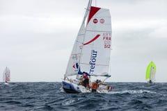 兰萨罗特岛,西班牙- 10月31 :有帆船的51托马斯Guichard 图库摄影