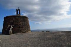 兰萨罗特岛,阿雷西费,卡斯蒂略de圣加百利 免版税库存图片