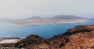 兰萨罗特岛,鸟瞰图 免版税库存图片