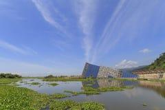 兰阳博物馆和蓝天 库存图片