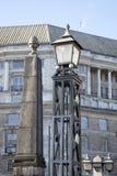 兰贝斯桥梁路灯柱,伦敦 库存图片
