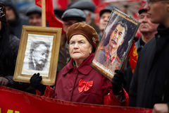 共产主义演示俄国翼果 免版税库存图片