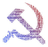 共产主义符号文本 库存图片