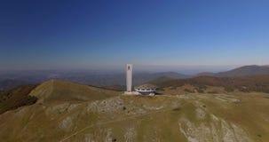 共产主义纪念碑在Buzludja 股票视频