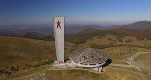 共产主义纪念碑在Buzludja 股票录像