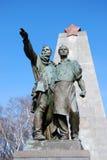 共产主义雕象 库存图片
