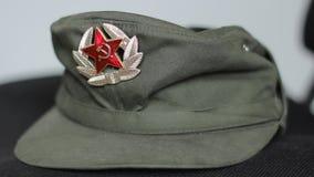共产主义军用盖帽 股票视频