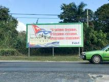 共产主义标志-古巴 免版税库存图片