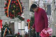 共产主义独裁者尼古拉・齐奥塞斯库坟墓  免版税库存图片