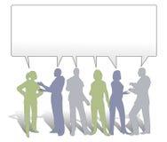 共享小组的协作想法 免版税库存照片