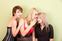 共享秘密的可爱的青少年的女孩 免版税库存图片