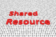 共享资源 库存例证