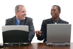 共同努力的生意人 免版税库存照片