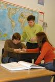 共同努力选件类的学员 免版税库存图片