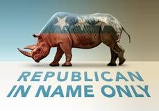 共和党人仅只名上 库存图片
