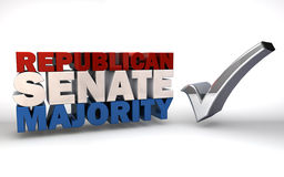 共和党参议院多数人 免版税库存照片
