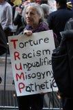 2016共和党节目反王牌抗议NYC 库存图片