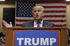 共和党总统候选人唐纳德・川普在南点竞技场&赌博娱乐场的竞选集会在拉斯维加斯 库存图片