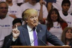 共和党总统候选人唐纳德・川普在南点竞技场&赌博娱乐场的竞选集会在拉斯维加斯 免版税库存图片