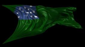 共和国佛蒙特旗子 库存例证