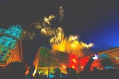 共和国天庆祝在热那亚  免版税库存照片