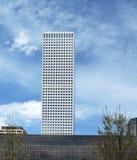 共和国广场看法,高楼在丹佛 免版税库存图片