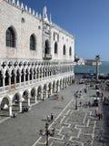 共和国总督宫殿-圣标记正方形-威尼斯-意大利 免版税库存图片