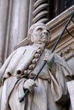 共和国总督弗朗切斯科Foscari,波尔塔della对共和国总督` s宫殿的Carta入口在威尼斯 免版税库存图片