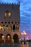 共和国总督的宫殿威尼斯日出的 库存图片
