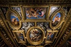 共和国总督` s宫殿内部在威尼斯,意大利 免版税库存照片
