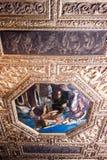 共和国总督` s宫殿在天花板的Palazzo Ducale油漆 免版税库存图片