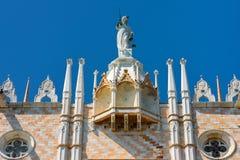 共和国总督` s宫殿在威尼斯,意大利 库存图片