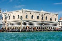 共和国总督` s宫殿在威尼斯,意大利 免版税库存图片