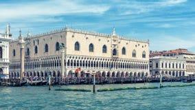 共和国总督` s宫殿在威尼斯,意大利 免版税库存照片
