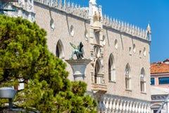 共和国总督` s宫殿或者Palazzo Ducale,在威尼斯,意大利 免版税图库摄影