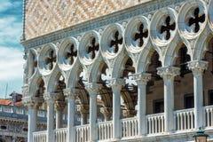 共和国总督` s宫殿或者Palazzo Ducale,在威尼斯 免版税库存图片