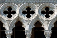 共和国总督` s宫殿的装饰在威尼斯 图库摄影