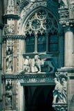 共和国总督` s宫殿的装饰或者Palazzo Ducale,在威尼斯 免版税库存照片
