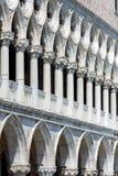 共和国总督` s宫殿的门面在威尼斯 库存照片