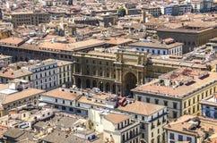 共和国正方形在佛罗伦萨 免版税图库摄影