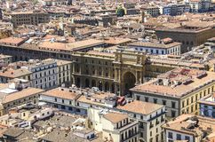 共和国正方形在佛罗伦萨 库存图片