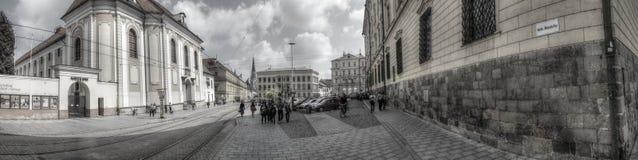 共和国正方形在Olomouc 库存照片