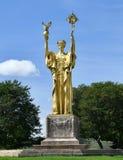 共和国的雕象 免版税库存照片