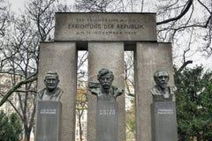 共和国纪念碑-维也纳,奥地利 库存照片