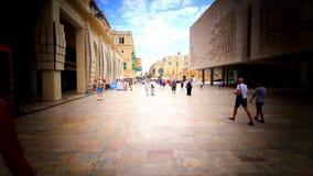 共和国街道,瓦莱塔 有小插图的马耳他 股票视频