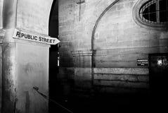 共和国街道 库存图片