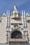 共和国总督宫殿哥特式门面在威尼斯,意大利 免版税库存图片