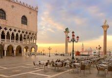 共和国总督宫殿,威尼斯,意大利 库存照片